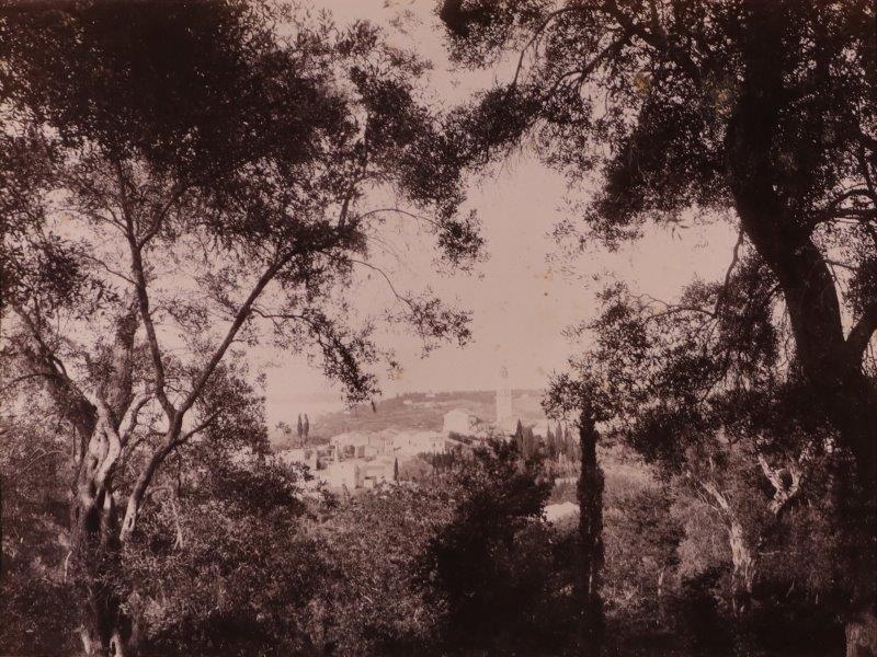 Ricordo di Corfu #04: View of Potamos, Corfu, overlooking Vido