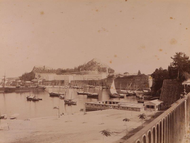 Ricordo di Corfu #10: View of the Old Fortress from Faliraki Beach, Corfu Town