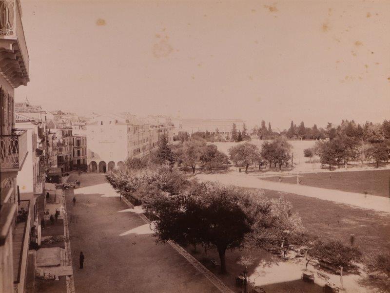 Ricordo di Corfu #13: View of the Esplanade and the Liston Arcade, Corfu Town