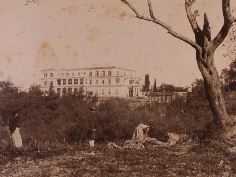 Ricordo di Corfu #15: View of the Achilleion Palace, Corfu