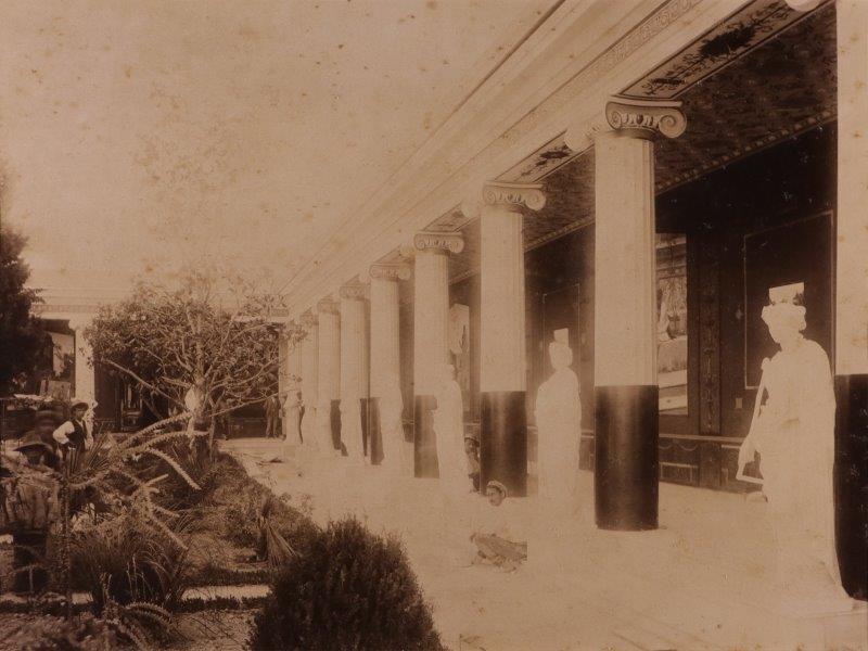 Ricordo di Corfu #16: Peristyle of the Muses in the Achilleion Palace, Corfu