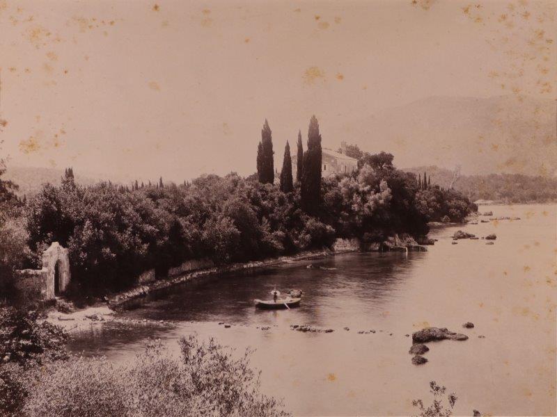 Ricordo di Corfu #20: View of the Pierris Mansion on Ypsos Bay, Corfu